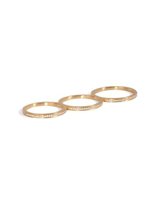 Sophie Bille Brahe | Metallic Gold/diamond Rue De Diamant Triple Ring | Lyst