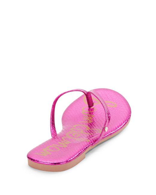 sam edelman oliver snakeprint thong sandals in multicolor. Black Bedroom Furniture Sets. Home Design Ideas