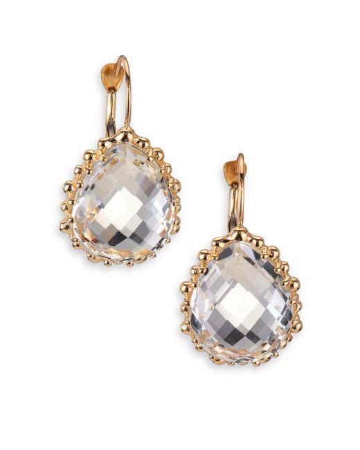 Anzie | Metallic Dew Drop White Topaz & 14k Yellow Gold Pear Earrings | Lyst