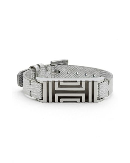 Tory Burch | For Fitbit Metallic Leather Bracelet | Lyst