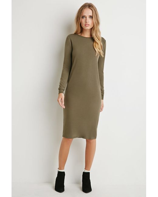 Forever 21 | Green Classic Midi Dress | Lyst