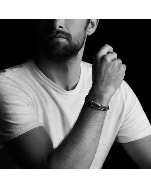 David Yurman | Chevron Triple-wrap Bracelet In Brown for Men | Lyst