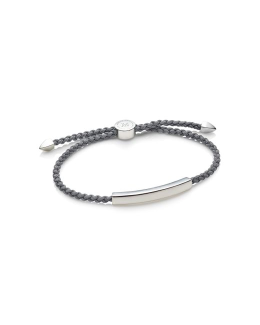 Monica Vinader | Gray Linear Men's Friendship Bracelet for Men | Lyst