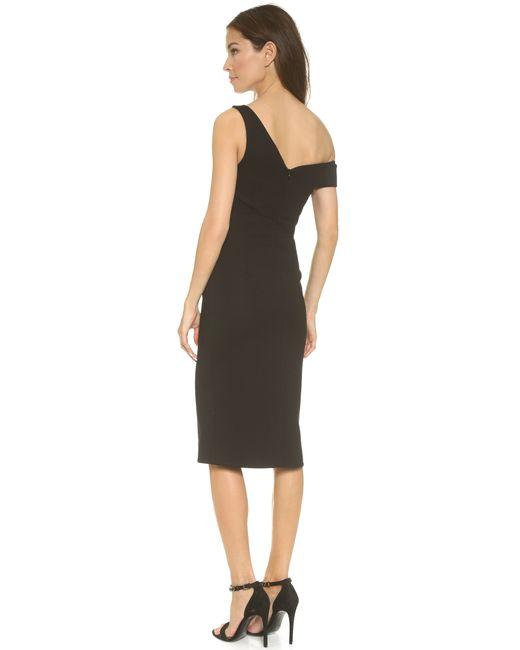 Nicholas | Black Ponte One-Shoulder Dress | Lyst