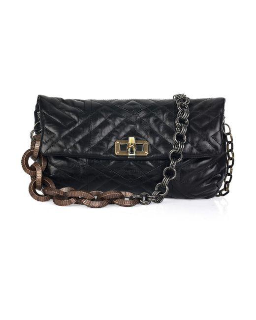 Lanvin | Black Happy Pop Quilted Leather Shoulder Bag | Lyst