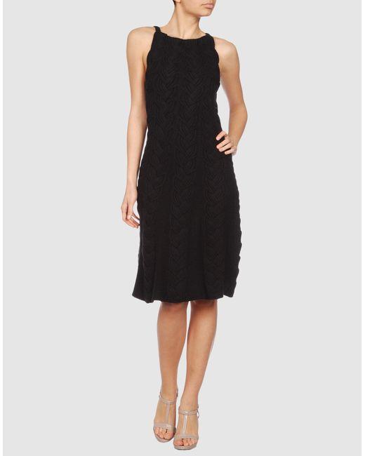 Emporio Armani   Black Short Dress   Lyst