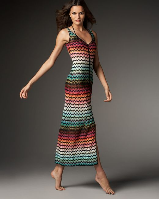 Missoni | Multicolor Crochet Knit Dress | Lyst
