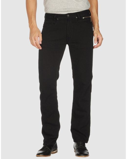 DIESEL   Black Casual Pants for Men   Lyst