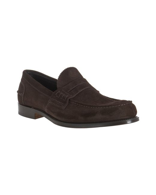 Church's   Brown Suede Pembrey Penny Loafers for Men   Lyst