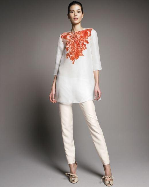 Giambattista Valli | Pink Shantung High-waist Pants | Lyst