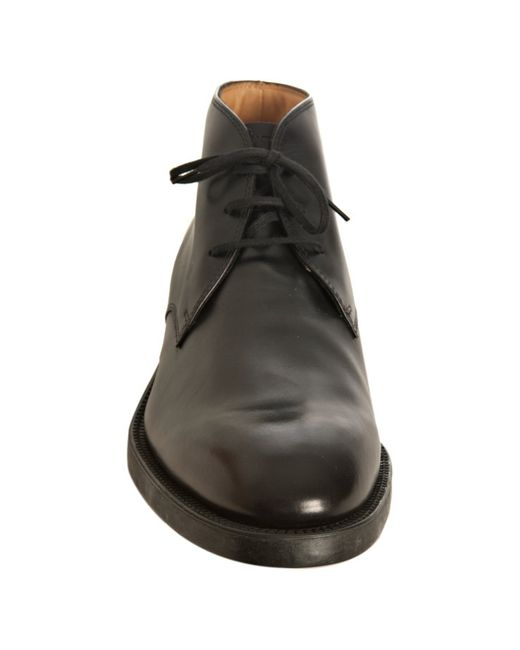 Tod's | Black Leather Esquire Giovane Chukka Boots for Men | Lyst