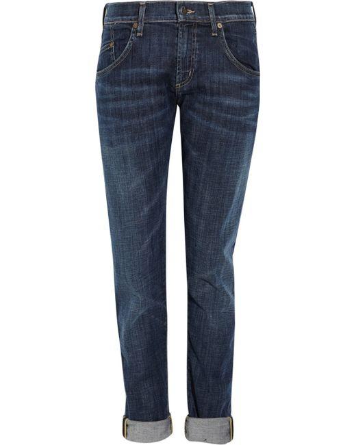 Citizens of Humanity | Blue Emerson High-rise Slim Boyfriend Jeans | Lyst