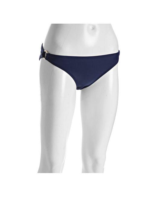Shoshanna | Navy Blue Side Ring Bikini Bottom | Lyst