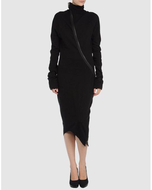 Haider Ackermann   Black 3/4 Length Dress   Lyst