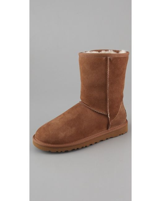 Ugg | Brown Classic Short Boots | Lyst