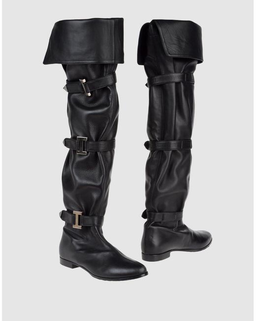 Le Silla   Black 20mm Swarovski Quilted Leather Boots   Lyst