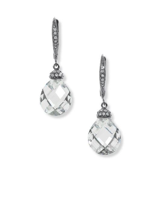 Nadri   Metallic Infinity Teardrop Earrings   Lyst