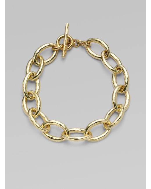 Ippolita | Metallic Glamazon 18k Yellow Gold Mini Bastille Link Bracelet | Lyst