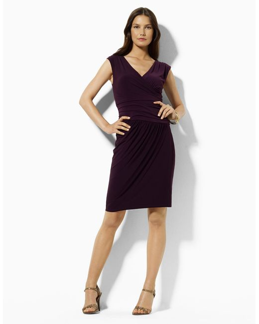 Lauren by Ralph Lauren | Purple Lace Sheath Dress | Lyst