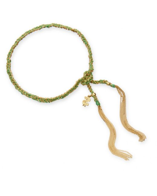 Carolina Bucci | Blue Gold & Silk Braided Lucky Bracelet | Lyst