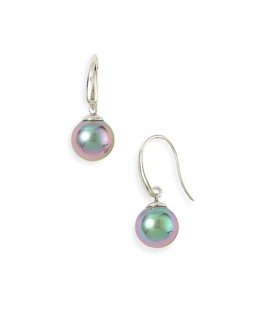 Majorica | Gray 10mm Pearl Drop Earrings | Lyst