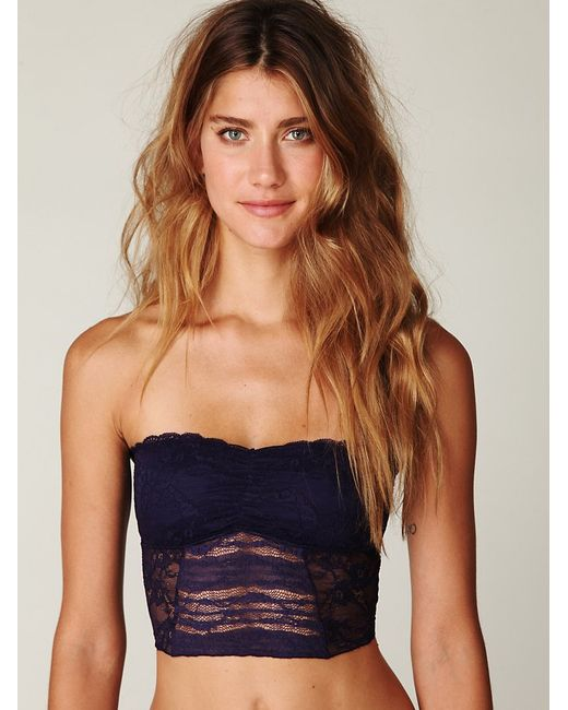 Free People | Purple Cropped Lace Tube | Lyst
