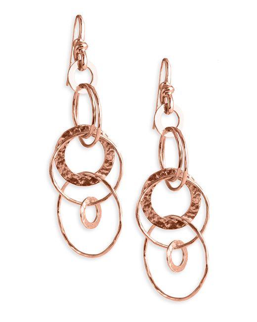 Ippolita | Metallic 'jet Set' Rose Hammered Earrings | Lyst