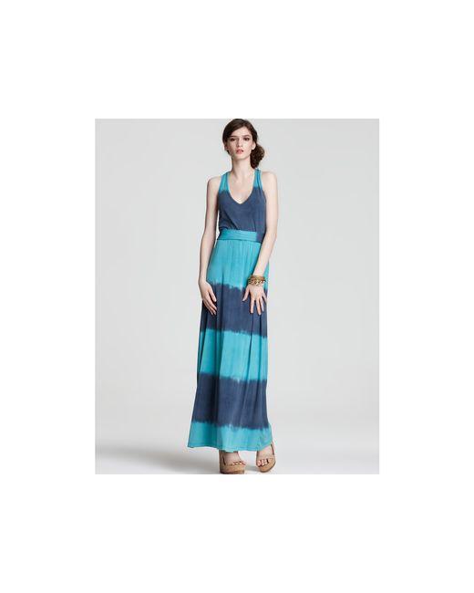 Splendid | Blue Tie-dye Stripe Maxi Dress | Lyst