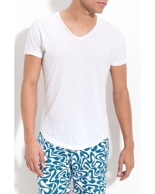 Orlebar Brown   White Ob-v Slim-fit Cotton-jersey T-shirt for Men   Lyst