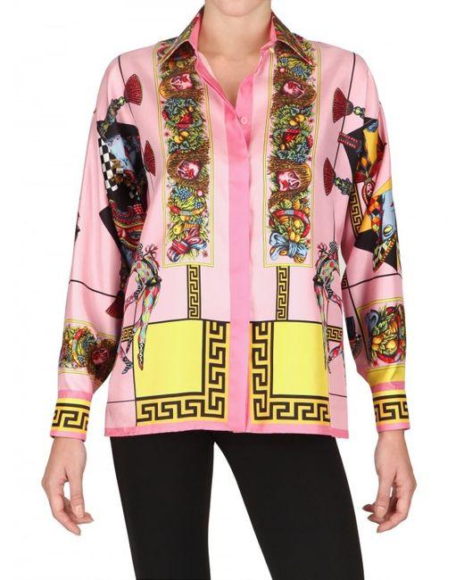 Versace   Multicolor Baroque Print Shirt   Lyst