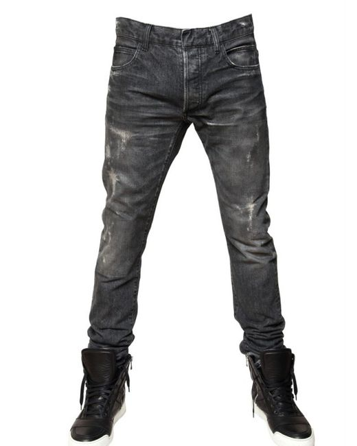 Balmain | Black Skinny-fit Biker Denim Jeans | Lyst