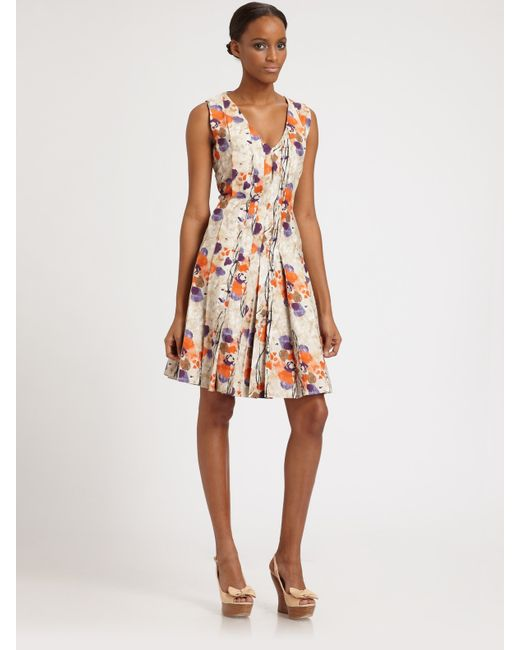 Lavia18 | Multicolor Abstract Floral Print Dress | Lyst