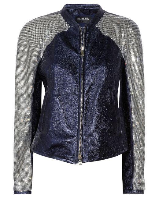 Balmain | Blue Jacket | Lyst