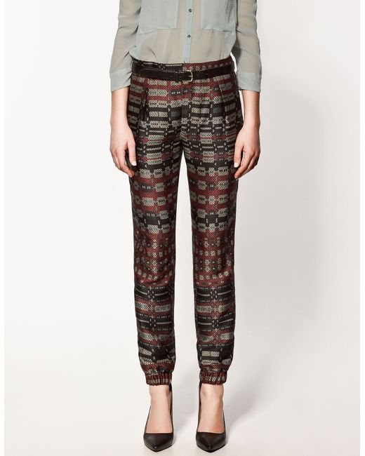 Cool Zara Camouflage Jogging Trousers In Multicolor  Lyst