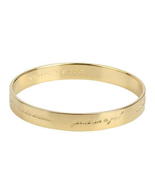 Kate Spade | Metallic 'idiom - Bridesmaid' Bangle | Lyst