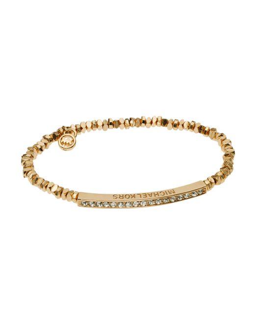 Michael Kors | Metallic Pavé Slider Bracelet | Lyst