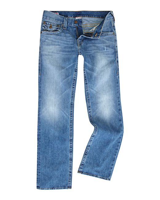 True Religion | White Ricky Saddlestich Jeans for Men | Lyst
