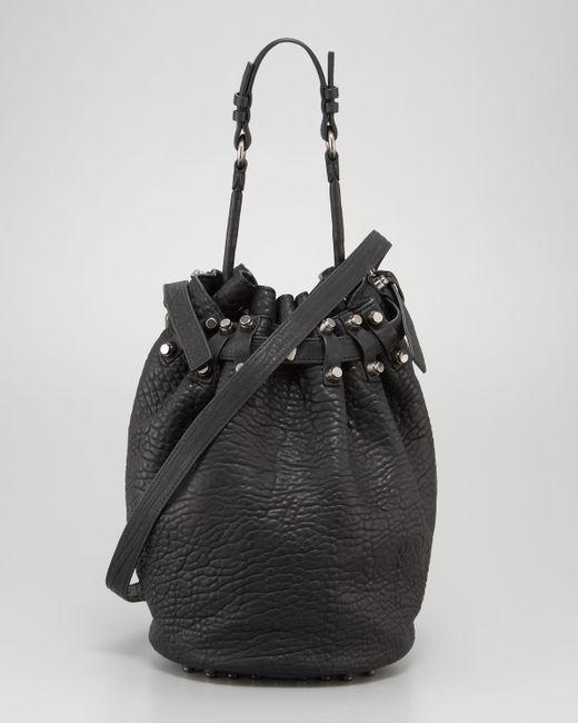 Alexander Wang   Diego Bucket Bag Black Nickel Hardware   Lyst
