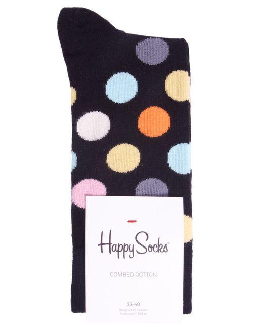 Happy Socks | Black Big Polka Dot Socks | Lyst