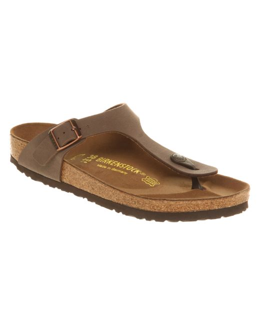 Birkenstock | Brown Gizeh Toe Thong Footbed | Lyst