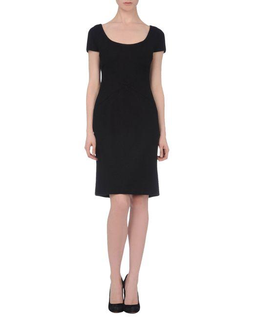Versace | Black Short Dress | Lyst
