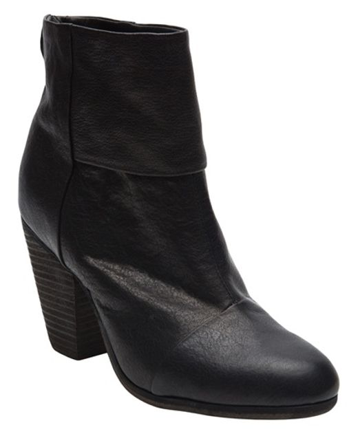 Rag & Bone | Black Classic Newbury Leather Ankle Boots | Lyst