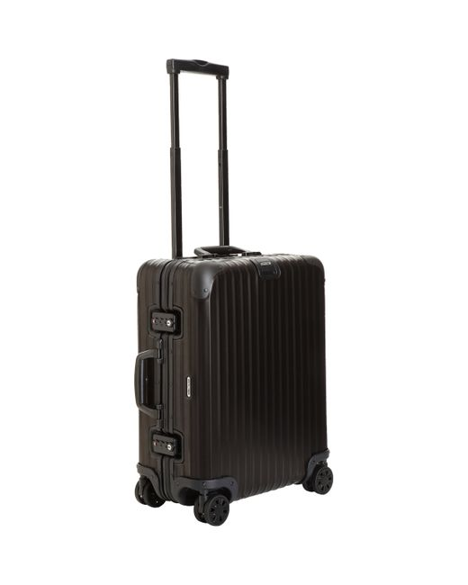 rimowa topas stealth 22 cabin multiwheel suitcase in black for men lyst. Black Bedroom Furniture Sets. Home Design Ideas
