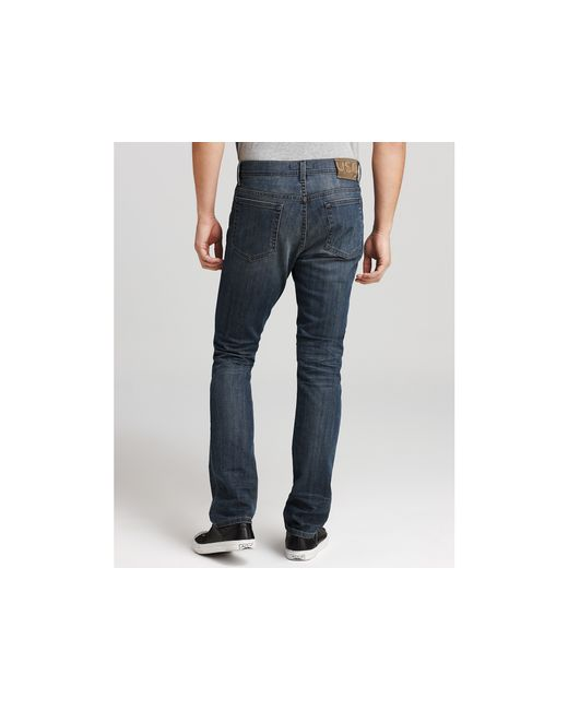 John Varvatos   Blue Bowery Jeans in Vernor Wash for Men   Lyst