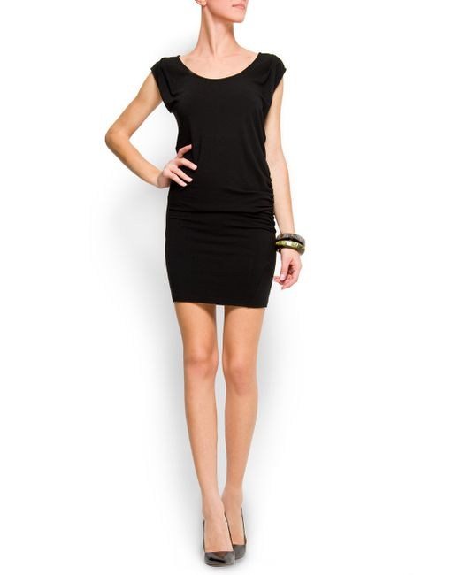 Mango | Black Flecked Dress | Lyst