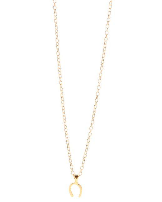Gorjana   Metallic Wishbone Charm Necklace   Lyst