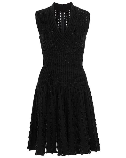 Alaïa | Black Cape Back Solid Dress | Lyst