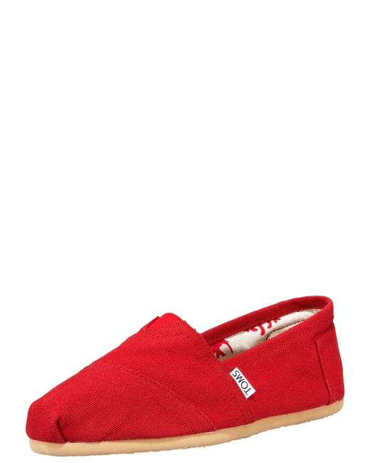 TOMS | Red Classic Slip Ons | Lyst