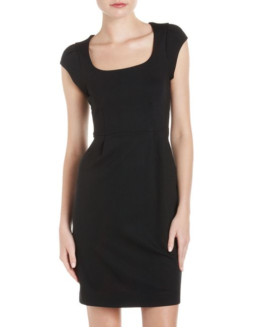 French Connection   Black Georgia Jersey Dress   Lyst