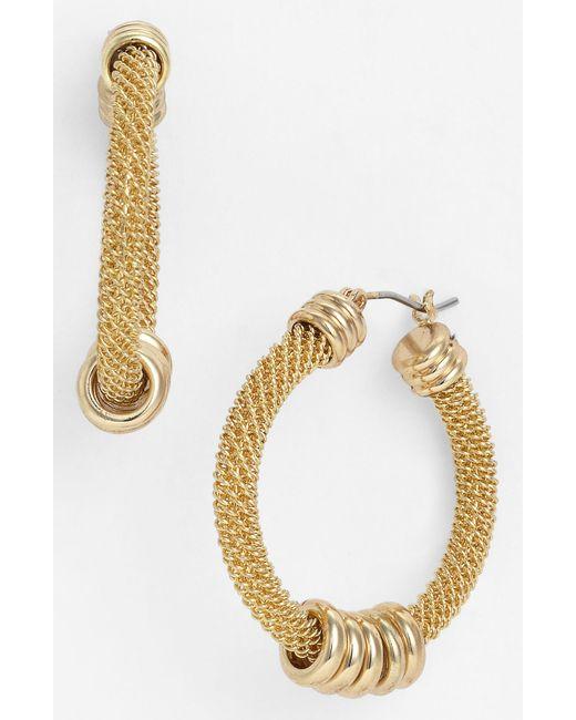 Anne Klein | Metallic Brass Ball Fringe Drop Earrings | Lyst
